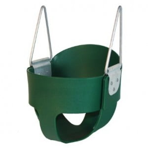 High Back Full Bucket Toddler Infant Swing Seat - Seat Only - Green