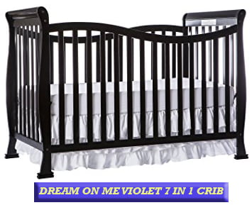 Dream On Me Violet 7 in 1 Convertible Crib