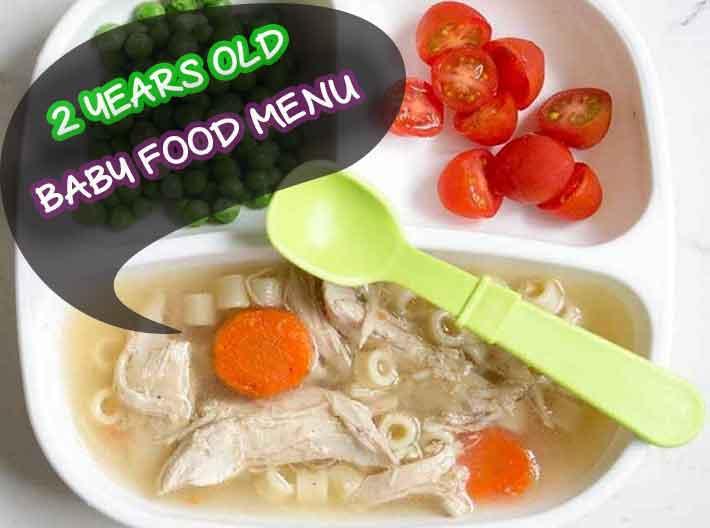 2 years old baby food menu