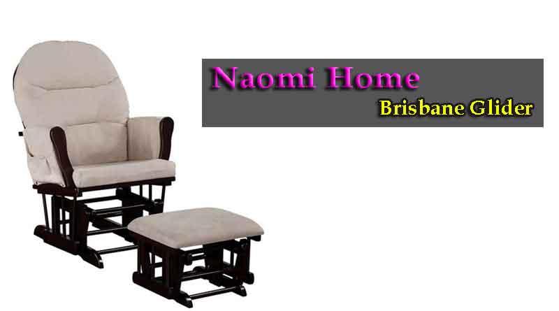 Naomi Home Brisbane Glider and Ottoman Set